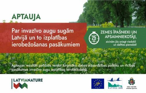 Izzinās zemes īpašnieku un apsaimniekotāju pieredzi invazīvo augu sugu ierobežošanā