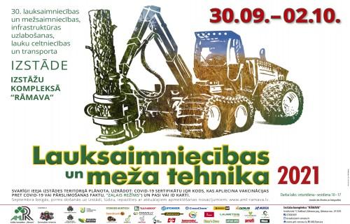 """Ceturtdien sāksies izstāde """"Lauksaimniecības un meža tehnika 2021"""""""