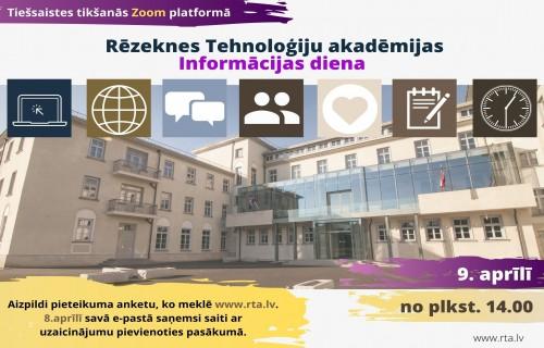 Iepazīsti Rēzeknes Tehnoloģiju akadēmiju virtuālajā Informācijas dienā!